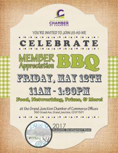 Grand Junction Area Chamber of Commerce 2017 Membership BBQ Invitation