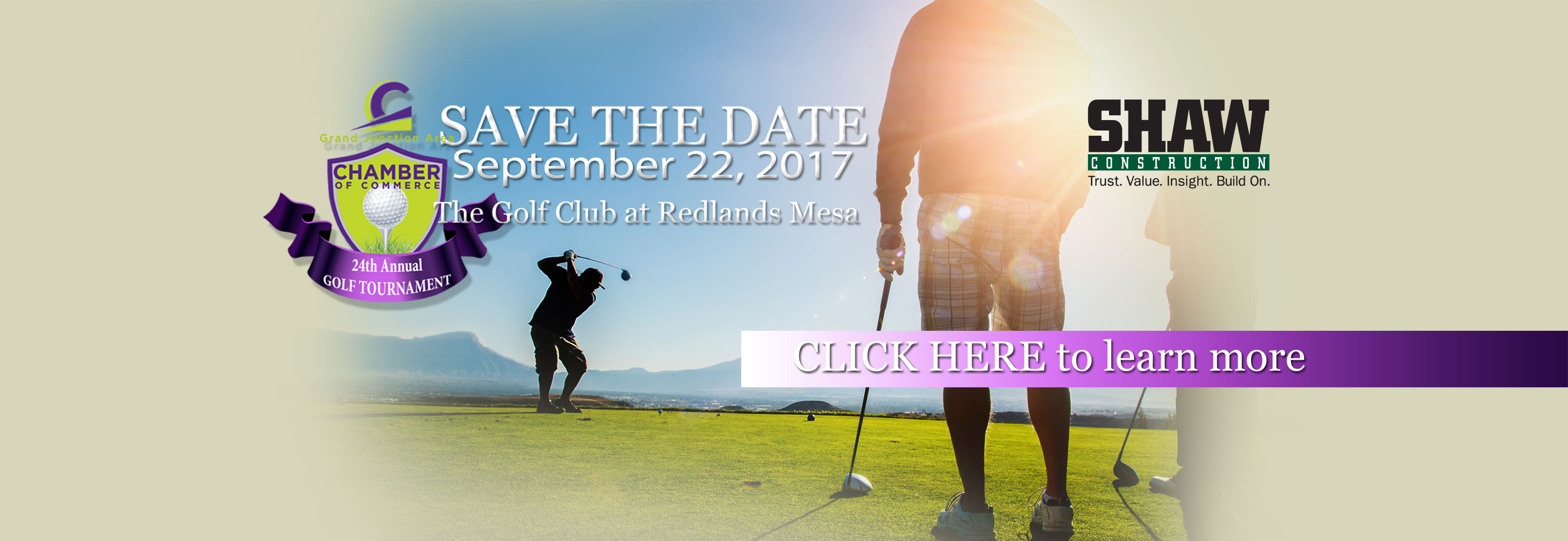 Save The Date - Grand Junction Chamber of Commerce Golf Tournament September 22, 2017